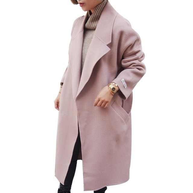 2017 Women Autumn Winter Coats Jackets Thick Long Poncho Coats Belt Oversized High Quality Winter Quilt Long Coat Manteau Femme