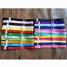 100 pces cão de estimação bowties acessórios costelas ajustáveis gravatas coloridas colar acessórios 22-42cm * 1 cm 20 cores pet grooming