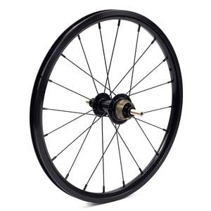"""Image 3 - SILVEROCK Bike 349 set di ruote 1 3 velocità 16x1 3/8 """"kinlin NB R cerchio di salto per Brompton 3sixty Pikes ruote bici pieghevoli ultraleggere"""