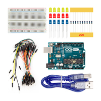 Arduino Small Tool 5 In 1 Basic Starter Kit With UNO R3 Mini Breadboard LED Jumper