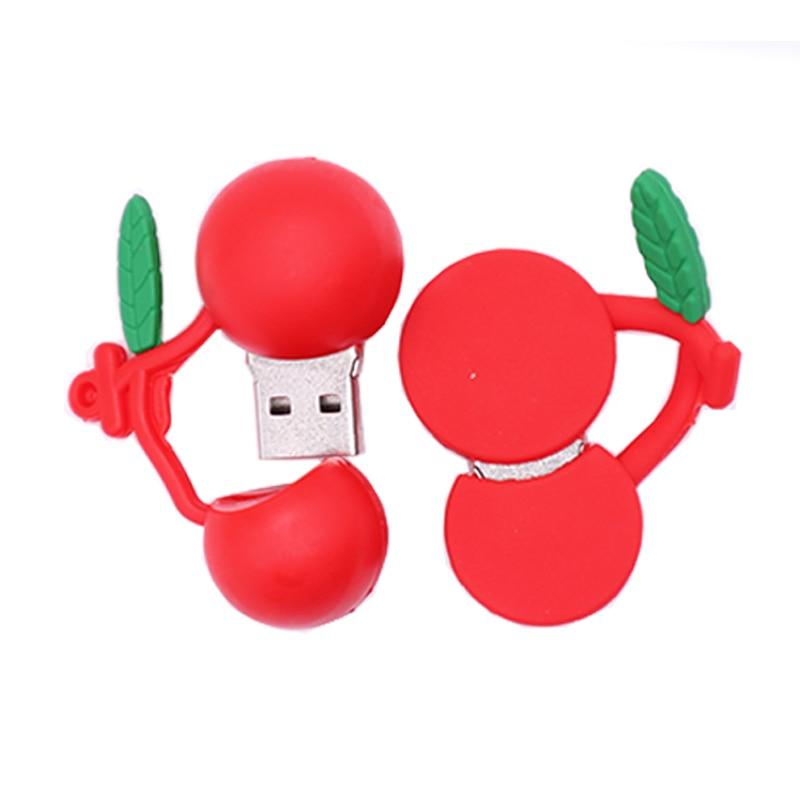 Pendrive cartoon fruits usb flash drive 4GB 8GB 16GB 32GB 64GB Strawberry banana Cherrys memory stick creative gift pen drive in USB Flash Drives from Computer Office