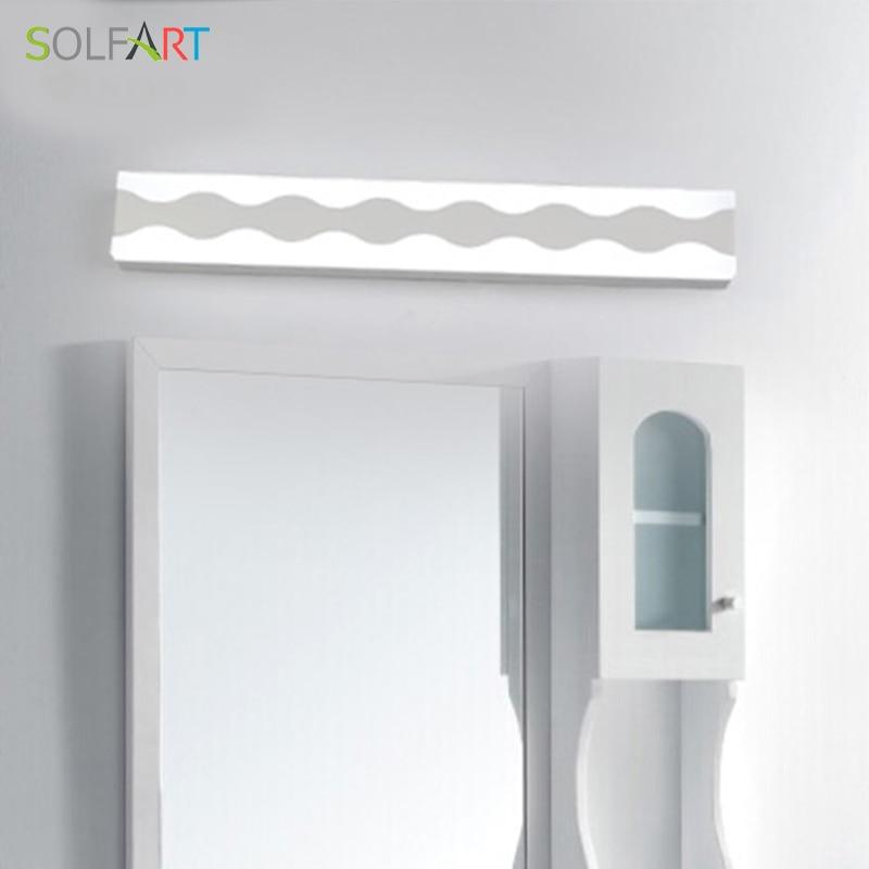 SOLFART modern led sconce wall lights mirror light wall lamp paint acrylic bathroom lighting mirrors arandela ps5247 modern led wall lamp mirror wall lamp wall light with frosted acrylic shade 5 kinds of size guaranteed 100