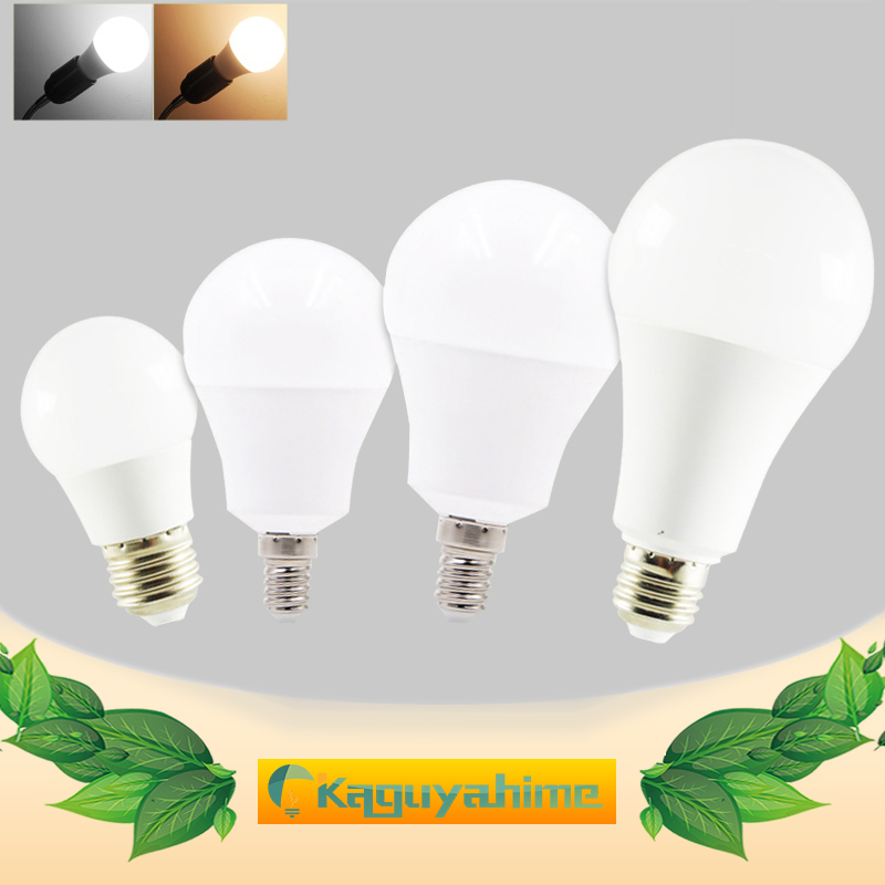 10pcs/lot LED E27 E14 Bulb Dimmable Lamps 220V 240V Light Bulb Smart IC Real Power 20W 18W 15W 12W 9W 5W 3W Lampada LED Bombilla