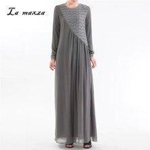b931a49604b Abaya Robes Musulman Modeste robe en dentelle La Turquie Arabe Kaftan Dubaï  Islamique Musulman Parti Maxi Robes de Soirée