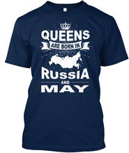 Russia-may-01 - Queens Are Born In Russia And Standard Unisex T-Shirt (S-5XL) Free shipping Harajuku Tops Fashion Classic
