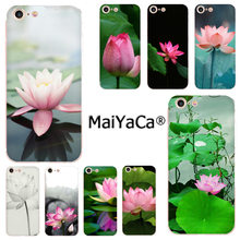 Maiyaca Bunga Cina Lotus Terbaru Fashion Phone Case untuk iPhone 11 Pro 8 7 66S Plus X 10 5S SE XR XS X Max(China)