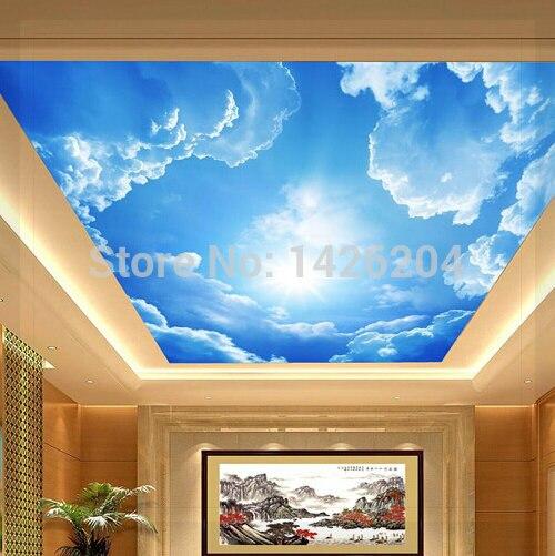 3d de gran vestíbulo del hotel mural del techo salón dormitorio del