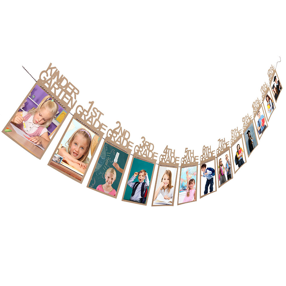 Dropshipping Child Graduation Gift Decorations kindergarten-12 Grade Photo Banner Wall image