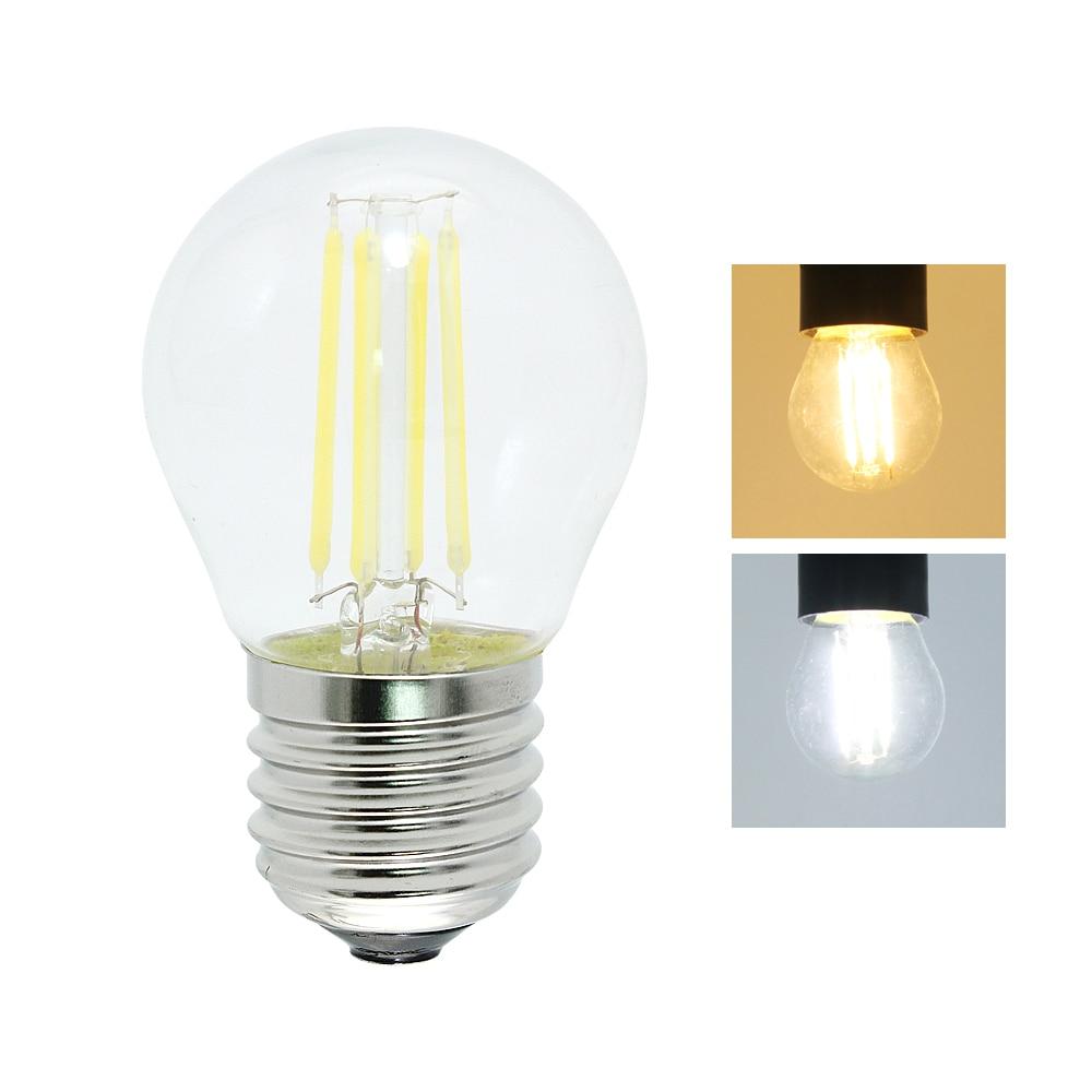 2W 4W 6W Dimmable E27 LED Filament Light Glass Edison Bulb 220V 240V 360 Degree Retro Dimming Lighting Lamp