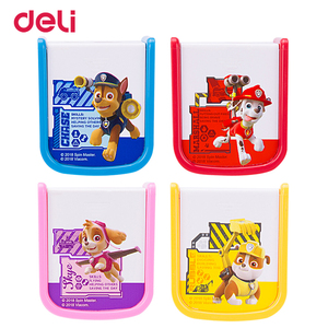 Deli Groothandel 4 Kleuren Kawaii Cartoon Puppy Patroon Twee Gaten Puntenslijper Voor School Kid Office Briefpapier Gift Poot Patrouille(China)