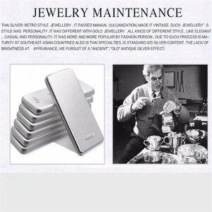 Image 2 - JINSE 925 argent Sterling graine de Lotus Bracelet à breloques & bracelets pour femmes ouvert réglable Simple marque amour bijoux 3mm