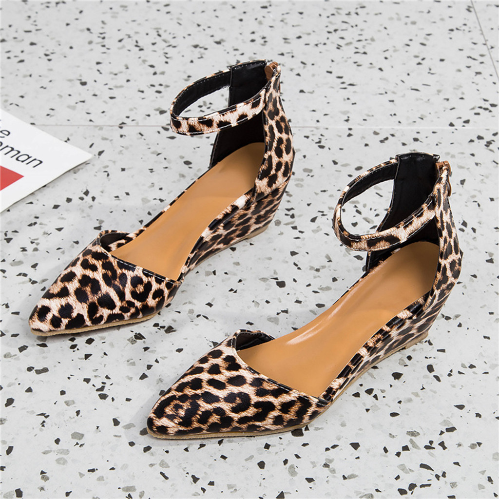 High Quality Womens Fashion Casual Pointed Toe Wedges Sandals Ankle Strap Outdoor Party Zipper Single Shoes Scarpe Donna 30High Quality Womens Fashion Casual Pointed Toe Wedges Sandals Ankle Strap Outdoor Party Zipper Single Shoes Scarpe Donna 30