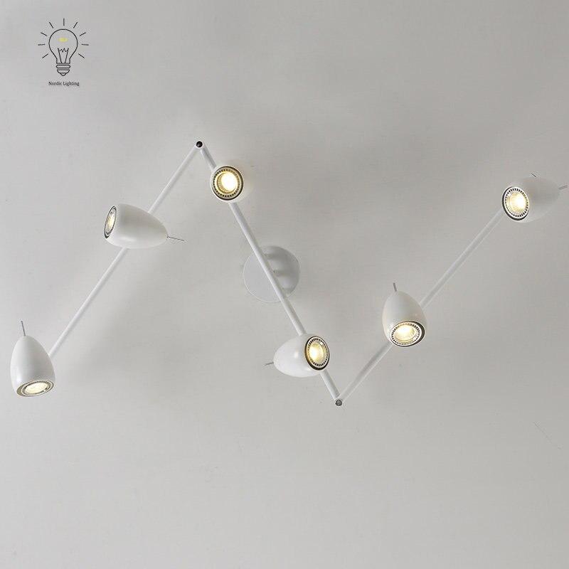 Modern Led Track Spotlights Clothing Stores Modeling: LED Track Light Boutique E27 AC85 265V 30 Angle Art Lamp