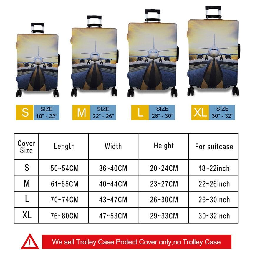 3D Cake mat mönster Skriv ut rese bagage resväska skyddshölje - Resetillbehör - Foto 6