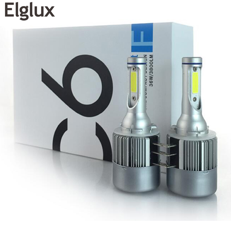 Elglux H15 COB 72W 7600Lm Wireless C6 LED Headlight Fog Lamp Auto Headlamp Driving Bulb  Car Light Sourcing