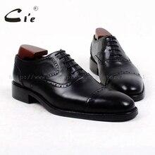 Cie Бесплатная доставка на заказ пользовательские ручной мужчин обуви телячьей кожи верхняя подошва мужская оксфорд обуви черный OX420 клей ремесла