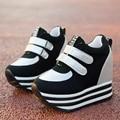 Fashion New Casual Shoes Women Chunky Sole Height Increasing Women Shoes Trifle Women Single Shoe Tenis Feminino