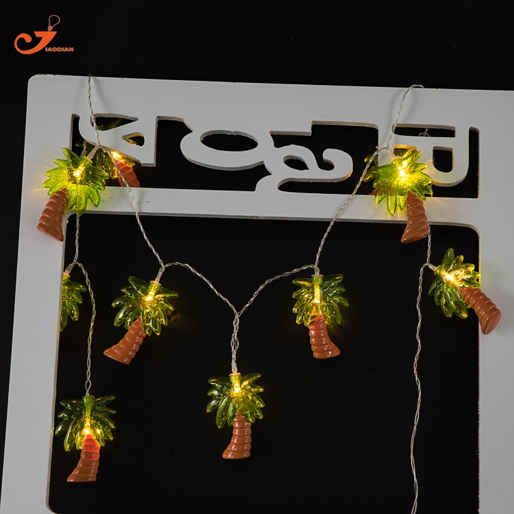 Coconut Tree Light Palm Tree String lights Fairy Holiday 10led tropical fruit lighting Battery Powered Party 3V AA indoor