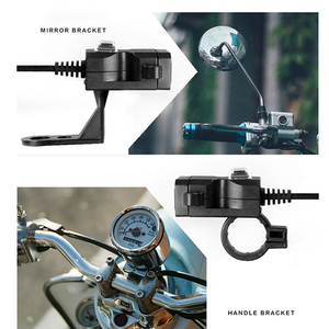 Image 2 - Newdesign Dual USB Port 12V Waterproof Motorbike Motorcycle Handlebar Charger 5V 2A Adapter Power Supply Socket for Phone Mobile