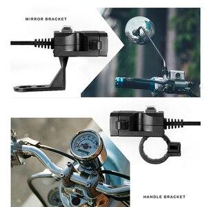 Image 2 - Newdesign المزدوج USB ميناء 12V للماء دراجة نارية دراجة نارية المقود شاحن 5V 2A محول مأخذ التيار الكهربائي للهاتف المحمول