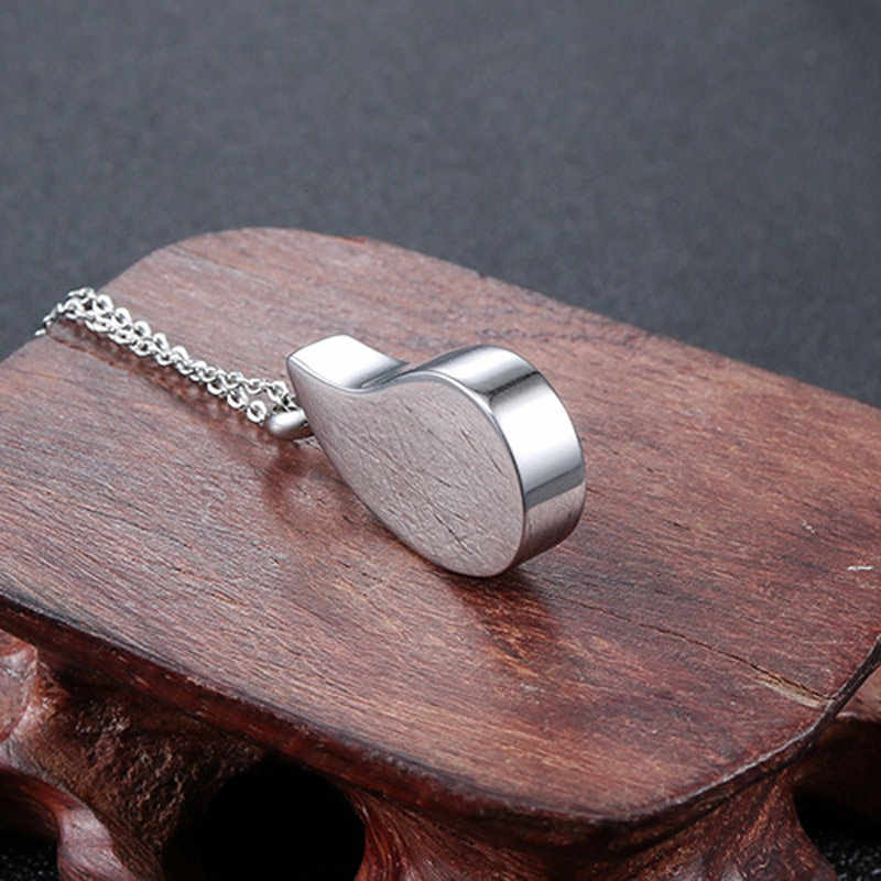 olowu Delicate Silver Color Pendant Necklace Stainless Steel Water-drop Shape Urn Ashes Pet Memorial Cremation Necklace Women