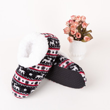 Christmas Gift Winter Women Socks Slippers Home Floor Shoes Sole Breathable Fawn Thicken Ladies Anti-slip Thermal Sox BAC090