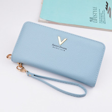 Купить с кэшбэком 2019 New Fashion Women Wallets High Quality Zipper Clutch Purses Drawstring Female Long Design Wallets Money cases Card Holders