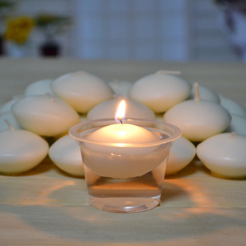 2018 Newest Hot 10pcs Round Water Floating Candle Disc