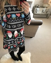 Sexy Snowman Christmas Dress Winter Warm Autumn Vintage Women Bodycon Long Sleeve Elegant Print Dresses Office