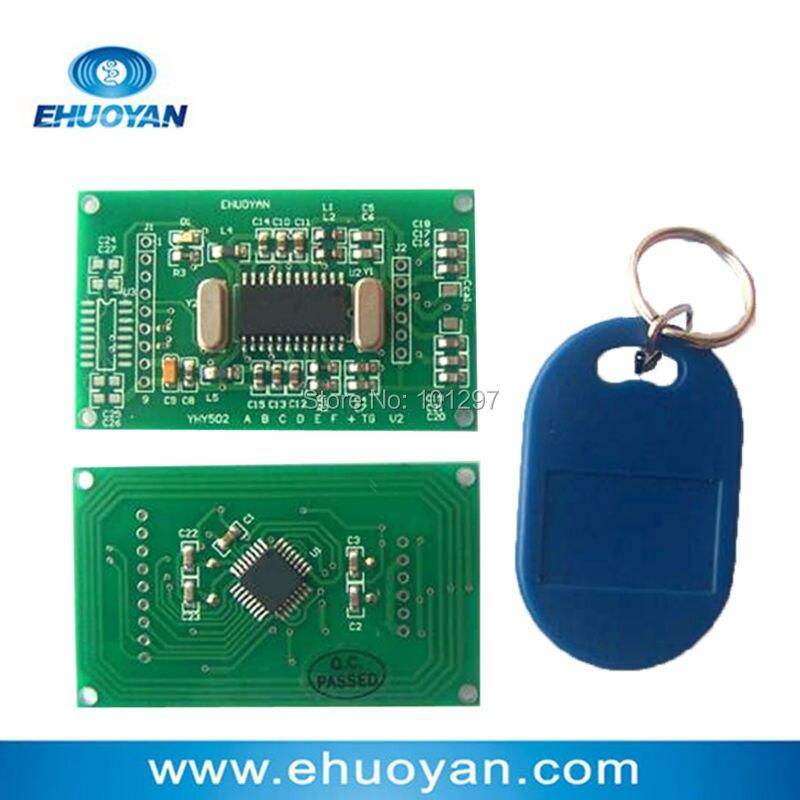 RFID Reader Writer   Module 13.56Mhz ISO 14443A UART 3V-5V YHY502CTG +SDK+3 Tags rfid reader module rdm6300 rf module 125khz reader uart serial output