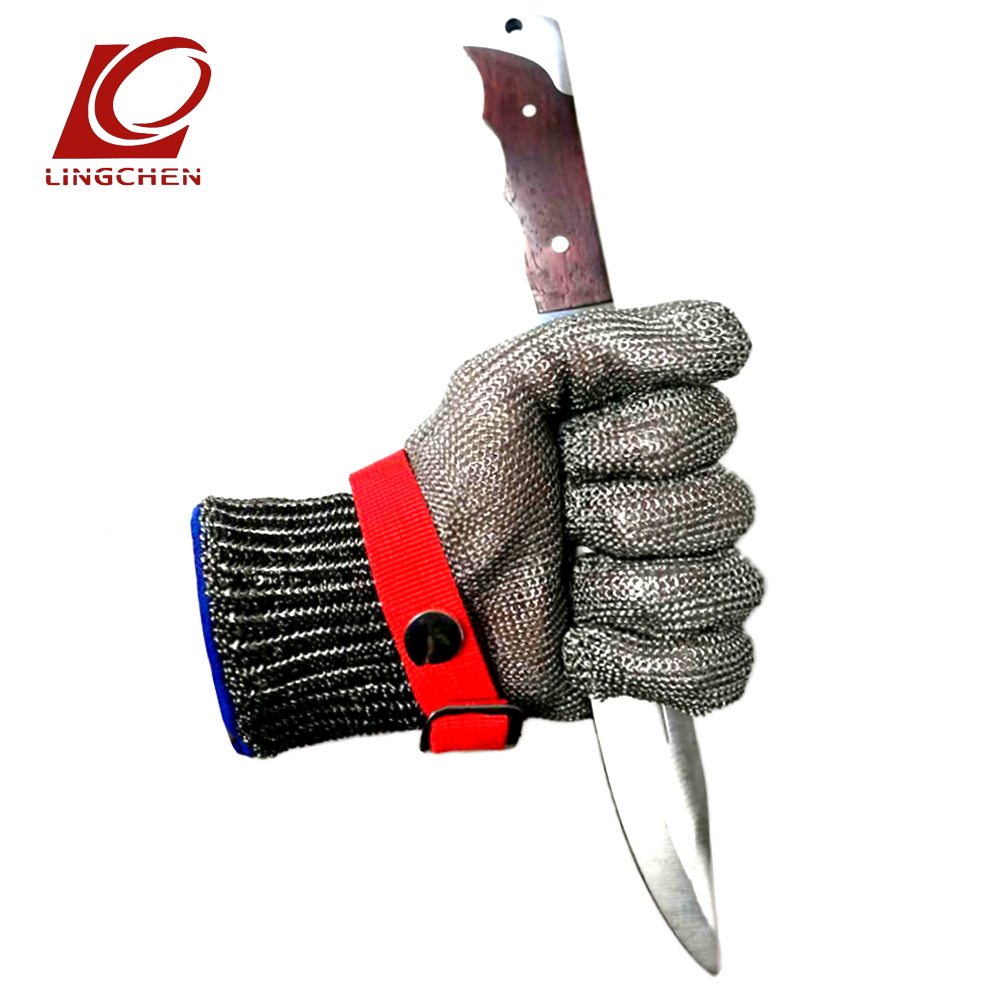 Cut-Resistant Stainless Steel Wire Gloves Safety Cut Proof Stab Work Glove Anti-cutting mitten Metal Mesh Chain mail Butcher 1pcs safety gloves cut proof stab resistant stainless steel wire metal mesh butcher anti knife
