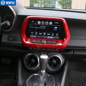Image 3 - MOPAI, Автомобильный интерьер, навигационный экран, Оформление, рамка, наклейка для Chevrolet Camaro 2017, аксессуары для стайлинга