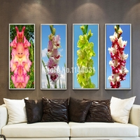 Flower 3D DIY Diamond Embroidery Orchid 5D Diamond Painting Purple Flowers Diamond Mosaic Needlework Crafts Chris