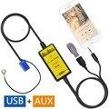 Original Patentado-Adaptador Adaptador del Cambiador de CD USB AUX Audio Del Coche Mp3 para audi a3 a4 s4 a6 allroad s6 a8 s8 TT