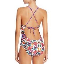 ITFABS Women Bikinis 2017 one piece floral Bandage Push-Up Swimwear women beach Swimsuit Bathing deep V neck girl bikini