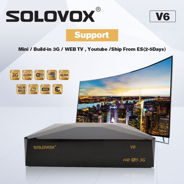 SOLOVOX V6 Home Theater Mini HD Satellite TV Receiver DVB-S2 Support M3U Support CCCAM TV NOVA Xtream Home Cinema