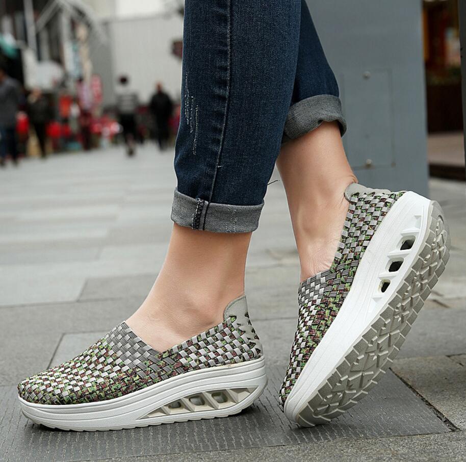 SAGYUA 2018 Mujeres Chica Señoras de Primavera Femenina Casual Moda - Zapatos de mujer - foto 5