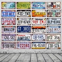 EE. UU. Texas Nueva York California coche de Metal número placa Vintage decoración de pared cartel Bar Pub garaje estaño placas signos y YN124