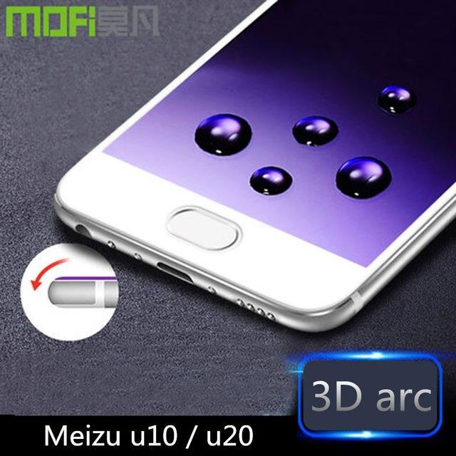Meizu u10 glass tempered 32gb Meizu u20 screen protector 3D curved full cover film u 10 20 meizu 16gb glass soft edge original