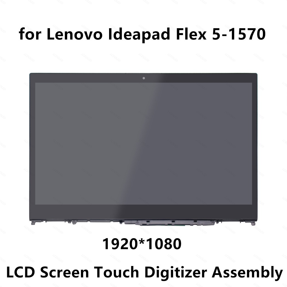 IPS LCD Screen Display Touch Glass Digitizer Panel Assembly+Frame For Lenovo IdeaPad Flex 5-1570 80XB 81CA 1920x1080 5D10N46974