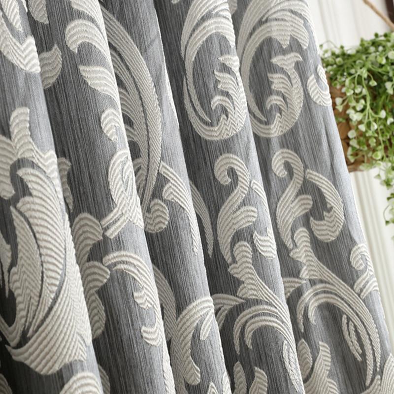 NAPEARL 1 Peça cortina Da Janela cortinas para sala de estar estilo Europeu apagão semi-3D moderno cortina cortina de cozinha