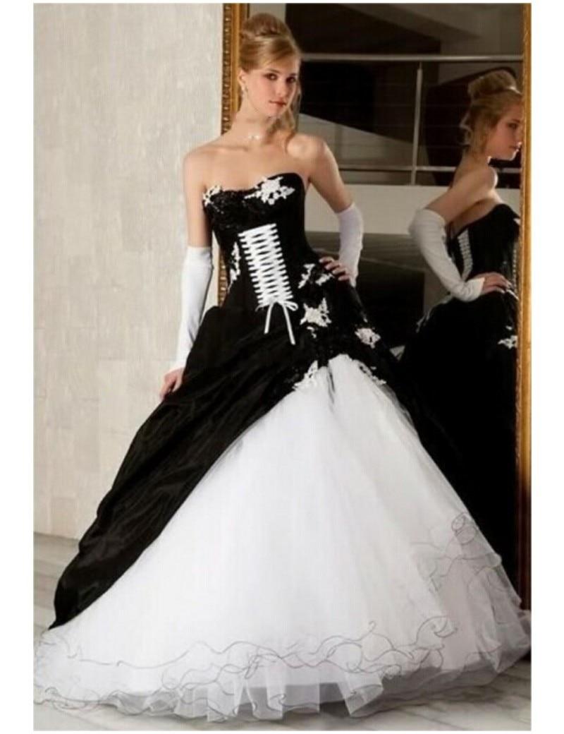 Popular Black White Dress Wedding-Buy Cheap Black White Dress ...