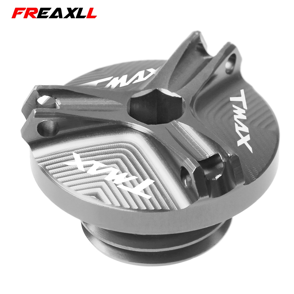 Motorcycle Motocross For YAMAHA TMAX <font><b>T</b></font>-<font><b>MAX</b></font> TMAX530 TMAX500 TMAX 500 <font><b>530</b></font> SX DX XP530 CNC Engine Oil Cap Filler Cover 2017 <font><b>2018</b></font> image