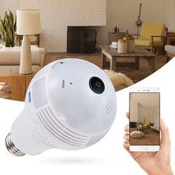 ESCAM QP136 960 P WiFi IP kamera żarówka 360 stopni panoramiczny H.264 na podczerwień kryty  detekcja ruchu|Kamery nadzoru|   -