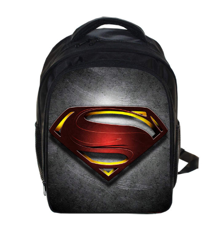 купить 13 Inch Superman Kindergarten Backpack Kids School Bags For Boys Daily Backpacks Children Hero Batman Spiderman Bookbag онлайн