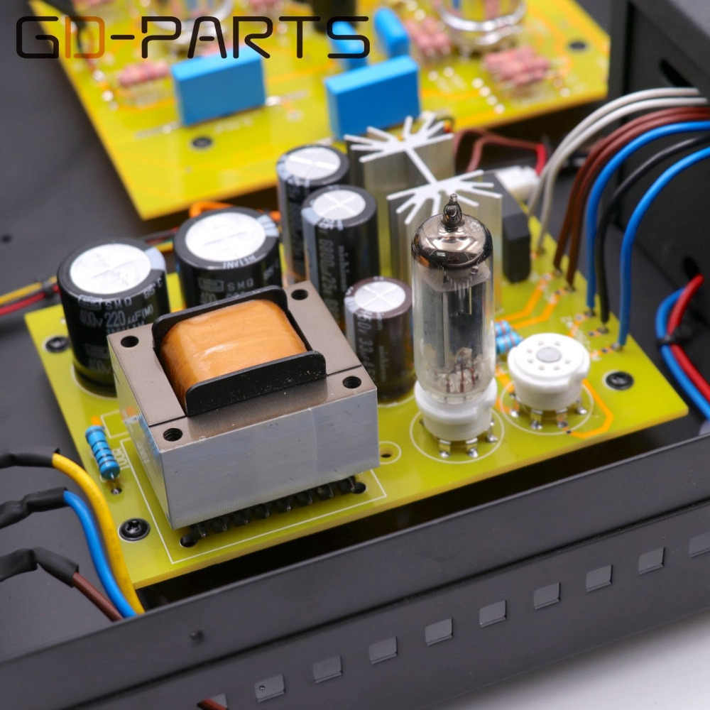 Stereo Cổ Điển Ống Preamplifier Hifi Âm Thanh 12AX7 6Z4 6X4 Preamp Bản Sao Marantz 7 Mạch 4 Kênh Đầu Vào Nhôm khung sắt
