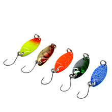 WLDSLURE 5pcs/lot 2.5g Metal spoon Fishing Lure Hard Bait Sequin Spoon Paillette Single Hook