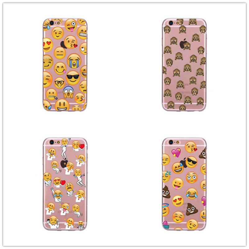 2018 New For Iphone X 7 6 6s Plus 5 5se 8 Phone Cases Expression Silicone Capa Funny Smily Faces Emoticon Emoji Cover For Coque