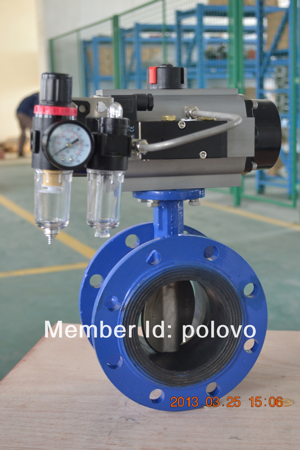 Flanged pn16 epdm seal solenoid actuated butterfly valve  задвижка pn 16 1