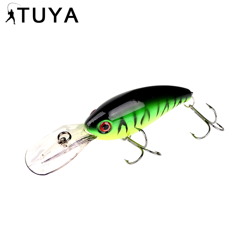 TUYA Crank Bait Wobblers Fishing Lure Minnow Crankbait Artificial Hard bait Trout Pike Bass Ձկնորսություն ճարմանդներ 10 սմ 14 գ